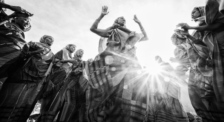 Gabra women dancing, North Horr, Kenya.